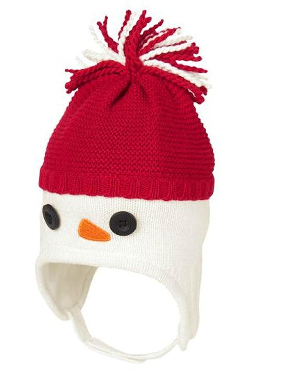 YueLian Baby Kids Girl Winter Chistmas Snowman Knitted Beanie Earflap Skull Cap Hat