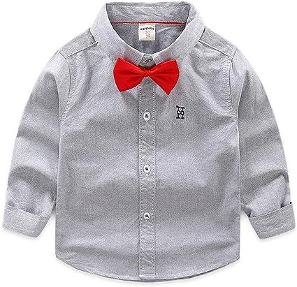 Weentop Camisa de Color Puro para niños Camisa de Manga Larga ...
