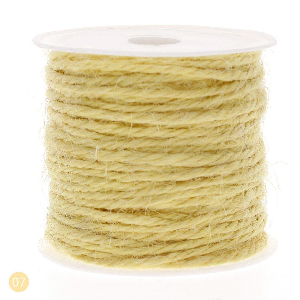 rungao 10m DIY color cáñamo cuerda 2mm Craft Natural Yute cuerda cable cuerda gruesa