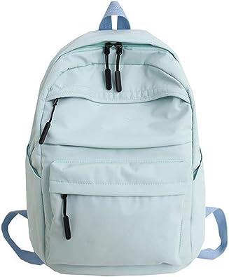 Backpack Back Oxford School Backpack for Teenage Girl School Bags Teens Ladies Bag Pack Pink,Blue,OneSize,Khaki: Amazon.es: Zapatos y complementos