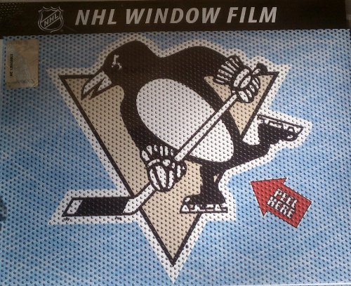 NHL Pittsburgh Penguins Window Film, One Size, (Penguin Window)