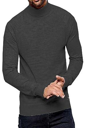 cd66df6d228a93 Threadbare Mens Logan Roll Neck Sweater: Amazon.co.uk: Clothing