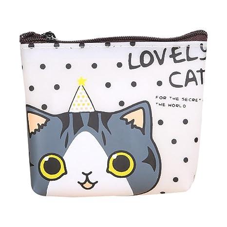 """6c4aab823b Neartime Portamonete in pelle, simpatico gatto piccolo portamonete borsa  portafoglio cambiamento 5.3 * 3.9"""""""