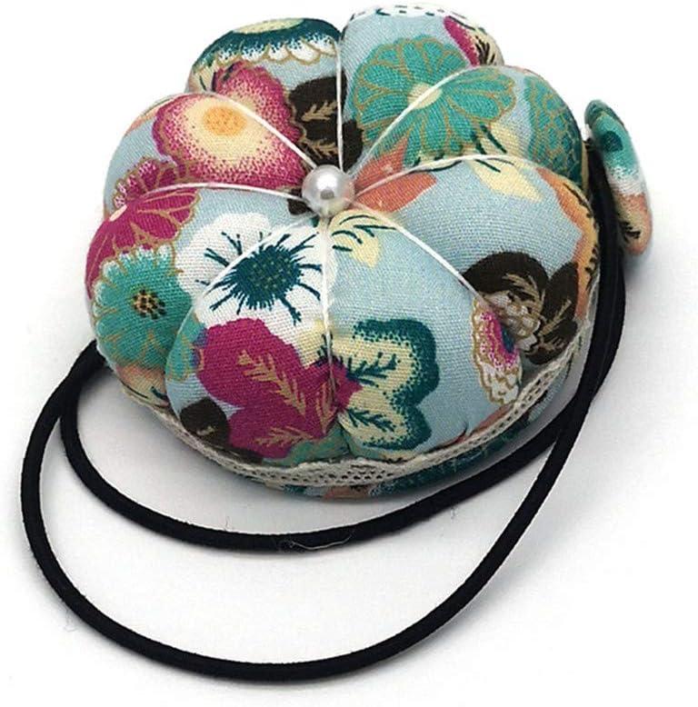 Huangyong Multi-Purpose Pincushion Mini Round Wrist Sewing Pin Cushion Sewing Machine Hand Hanging Pin Holder,Black