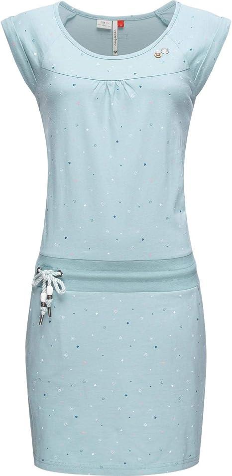 Ragwear Damen Baumwoll Jersey Kleid Sommerkleid Strandkleid Penelope XS-XL