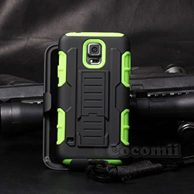 official photos 4f998 2f750 Cocomii Robot Armor Galaxy S5 Active Case NEW [Heavy Duty] Premium Belt  Clip Holster Kickstand Shockproof Bumper [Military Defender] Full Body  Rugged ...