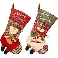 2 Piezas Calcetín De Navidad Bolsa De Regalo