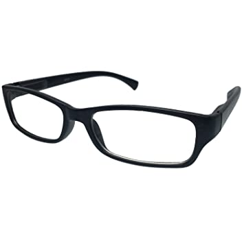 5dd95f5dd6 Image Unavailable. Image not available for. Color  grinderPUNCH Black  Glossy Clear Lens Square Wayfarer Nerd Glasses Rectangle