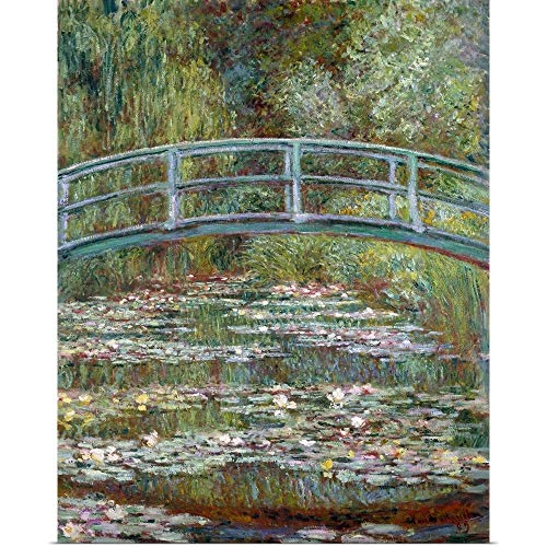 Great Big Canvas Poster Print Entitled Bridge Over a Pond of Water Lilies by Claude Monet 16