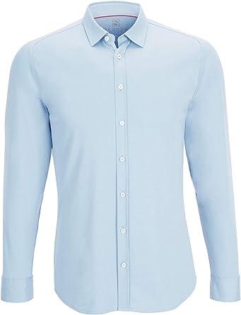 DESOTO - Camisa de manga larga para hombre con diseño moderno: Amazon.es: Ropa y accesorios