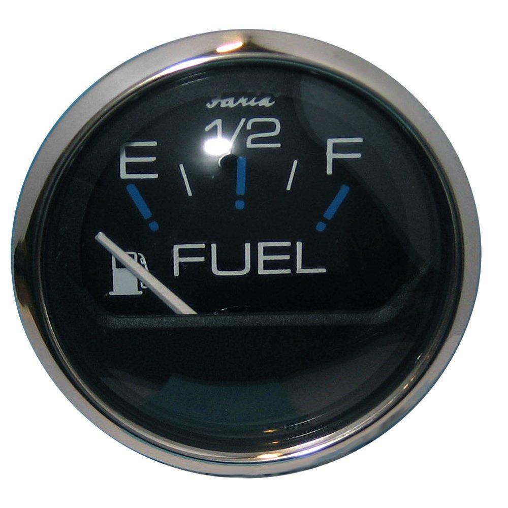 Faria Beede Instruments Faria Chesapeake Black SS 2' Fuel Level Gauge (E-1/2-F) 30603437 678-13701