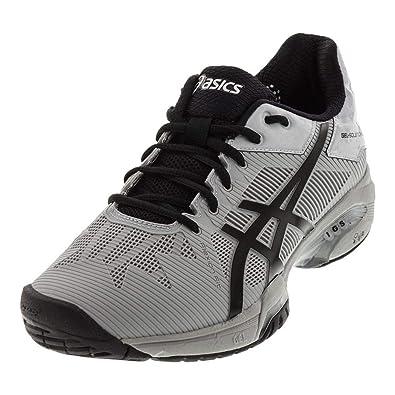 buy popular 430d4 b2023 ASICS Men s Gel-Solution Speed 3 Mid Grey Black 15 ...
