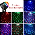 NIUBIER Disco Ball Disco Lights Party Lights Music Activated Lightshow Kids Karaoke Disco Light LED Party Suppliers for Home Room Dance Decorations Birthday DJ Wedding Club Night Lights by NIUBIER