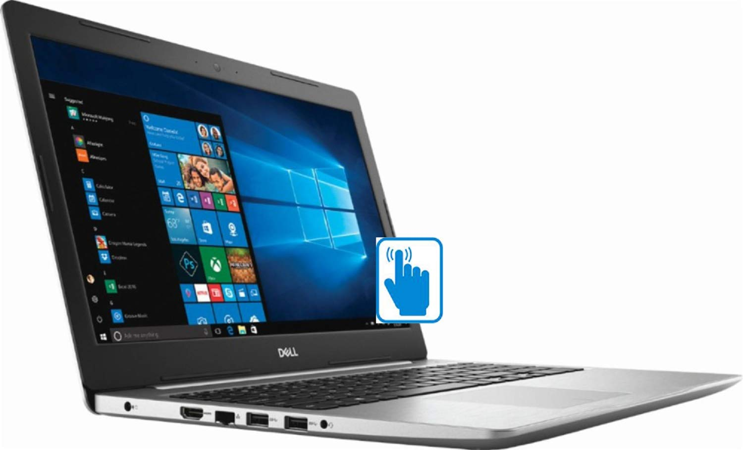 【着後レビューで 送料無料】 Dell Premium Inspiron 15 Touch, Full HD Touchscreen PCIe Premium Home and Business Laptop (AMD Ryzen 5 2500U Quad-Core, 8GB RAM, 1TB HDD + 128GB PCIe SSD, 15.6