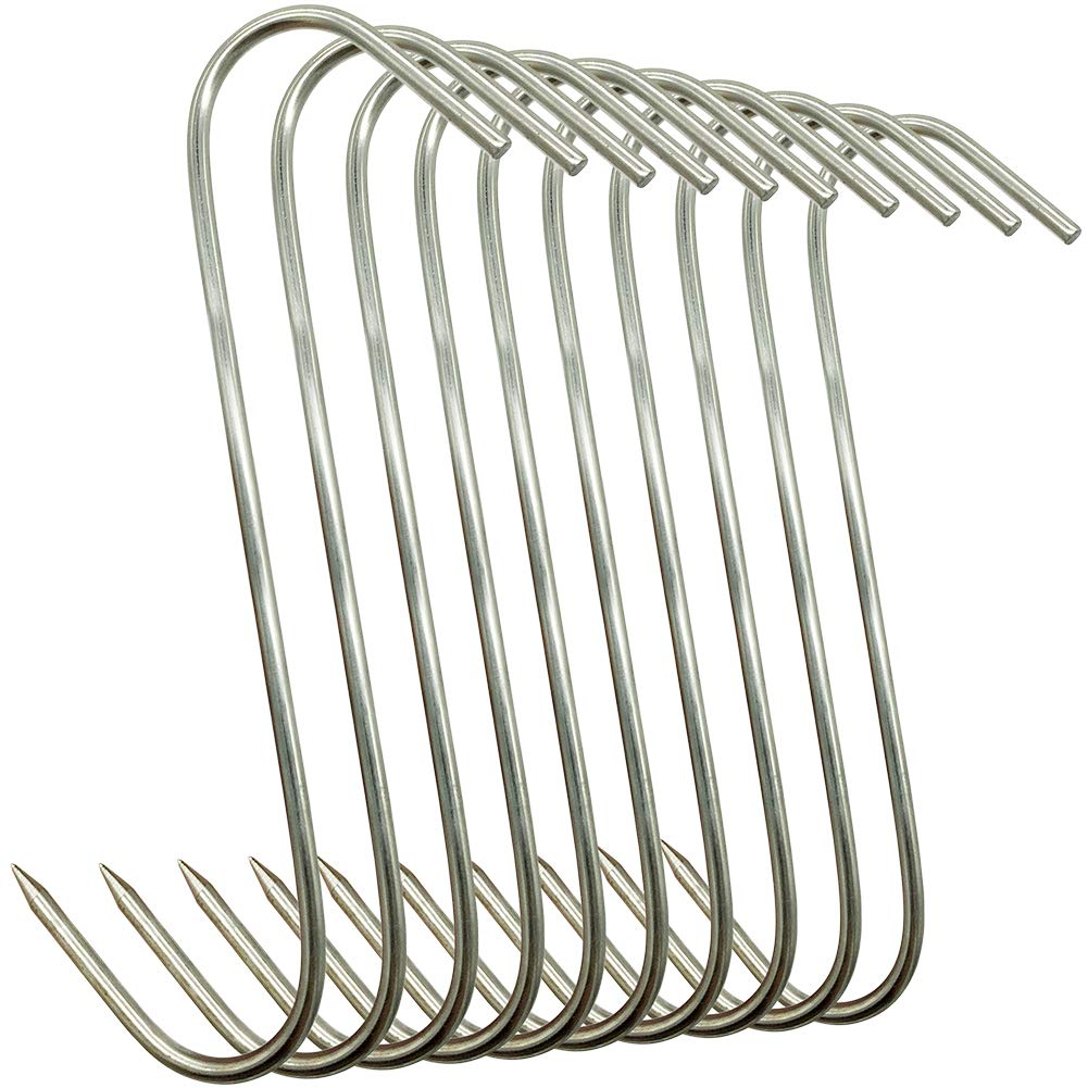 Stainless Steel Butcher Hooks for Meat Processing Muchfun 10Pcs 5 Inches Meat Hooks