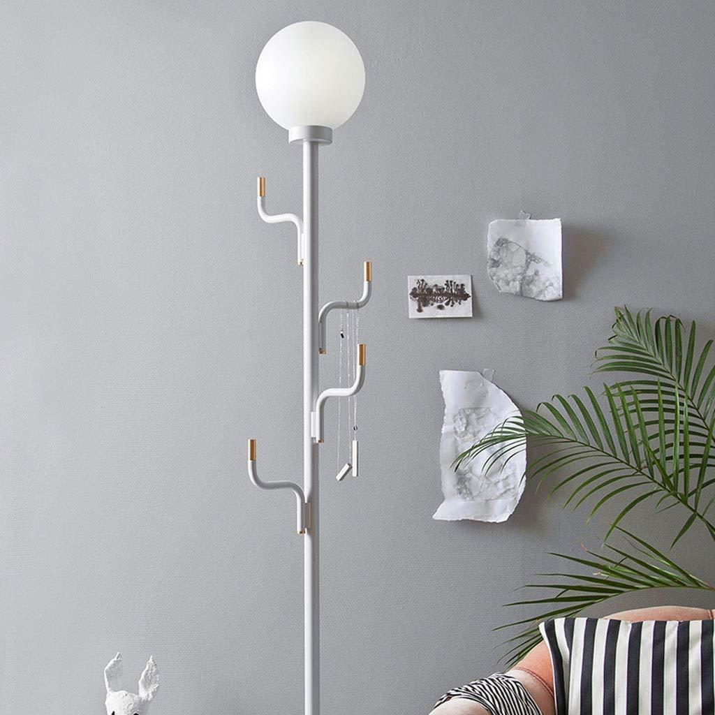 Lámpara de piso- Perchero nórdico lámpara de pie en la sala ...