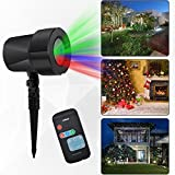 Uoune Outdoor Light Projector,Christmas Light Show Red Green Blue Projector lamp,Waterproof Firefly Projection Lights For Halloween,Landscape,Wedding ,Birthday,Party,Home,Garden Decoration