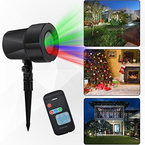 Laser Projector Lights Christmas Light Projection Show Garden Decorations,Waterproof Landscape Lighting Outdoor Projector with Remote Control (Red Lights Projection Christmas)
