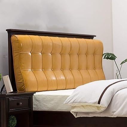JKL J-Cuscino Testiera in Pelle Imbottito Faux for Office-Letto Divano Reading Cuscino Schienale di Posizionamento Cuscino di Sostegno Triangolare Cuneo Cuscino