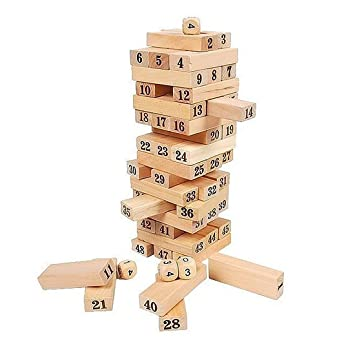 Wooden Tumbling Tower Blocks Garden Game Outdoor Family Party Adorable Wooden Bricks Game
