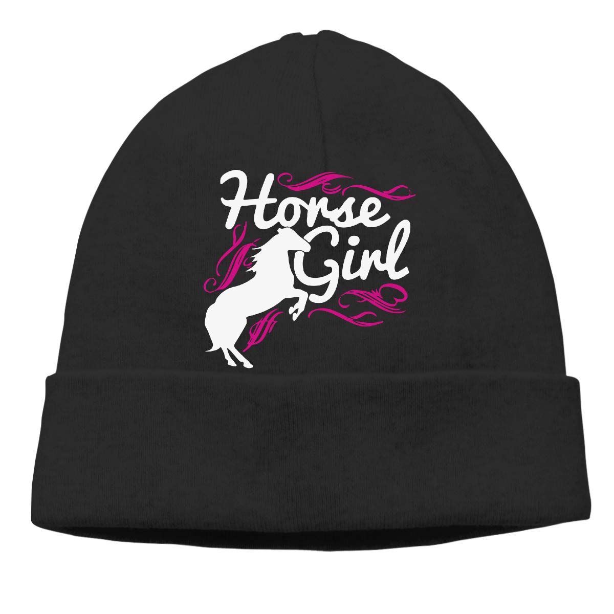 GDSG5/&4 Horse Girl Men and Women Daily Slouchy Running Beanie Hat