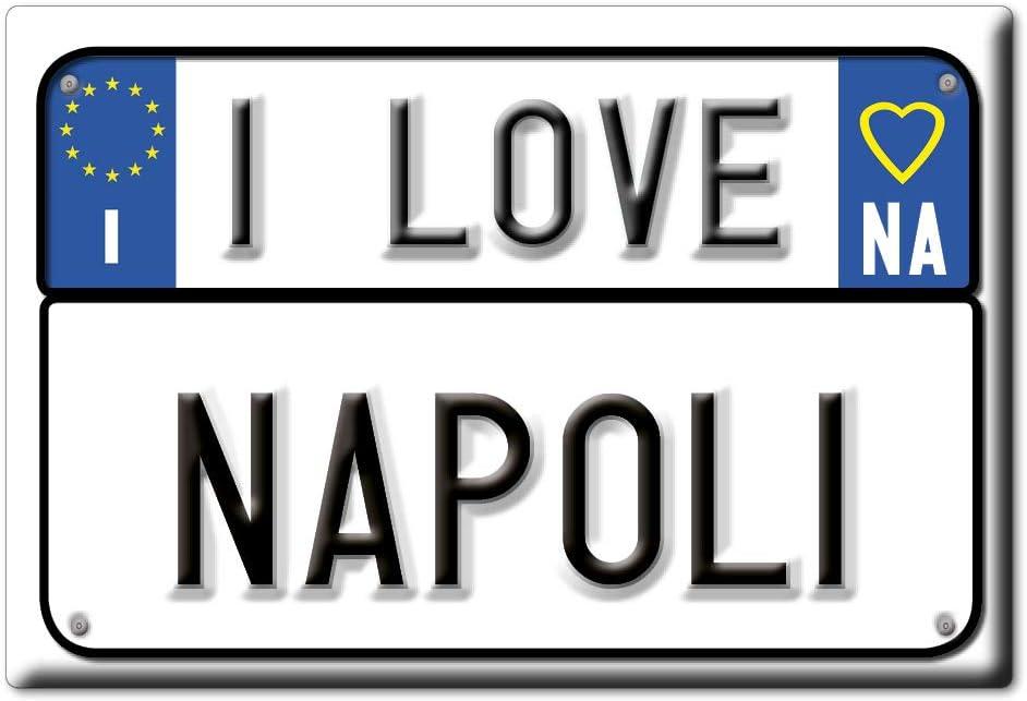 Enjoymagnets Napoli Souvenir Aimant DE FRIGO Italie Campania ID/ÉE DE Cadeau Magnets Je Aime