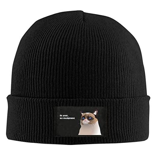 Mens Womens Beanie Cap Funny Grumpy Cat Watch Hat Winter Warm Knit Skull  Hat Cap Black at Amazon Men s Clothing store  e456a3cb21