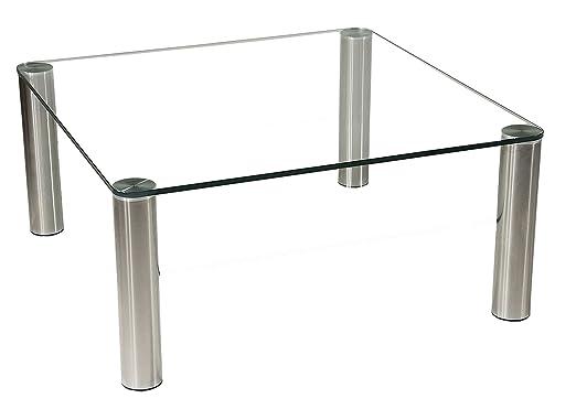Stegert Design 43224 M Couchtisch Glas Klarglas 90 X 90 Cm