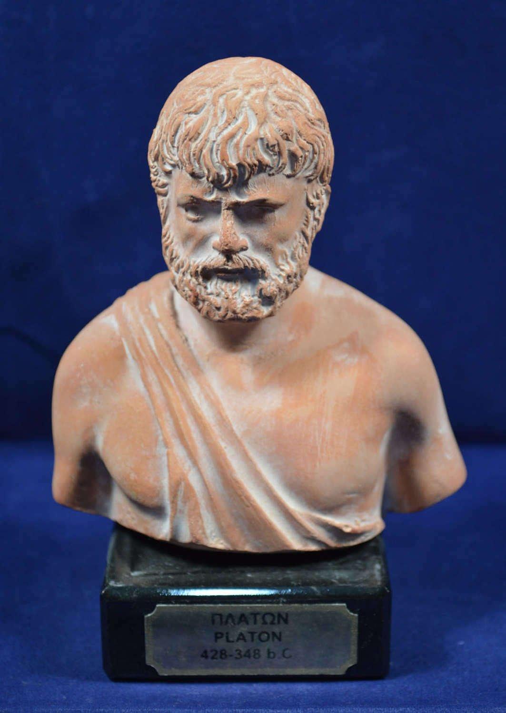 Plato Sculpture Bust Ancient Greek Philosopher Artifact Estia Creations