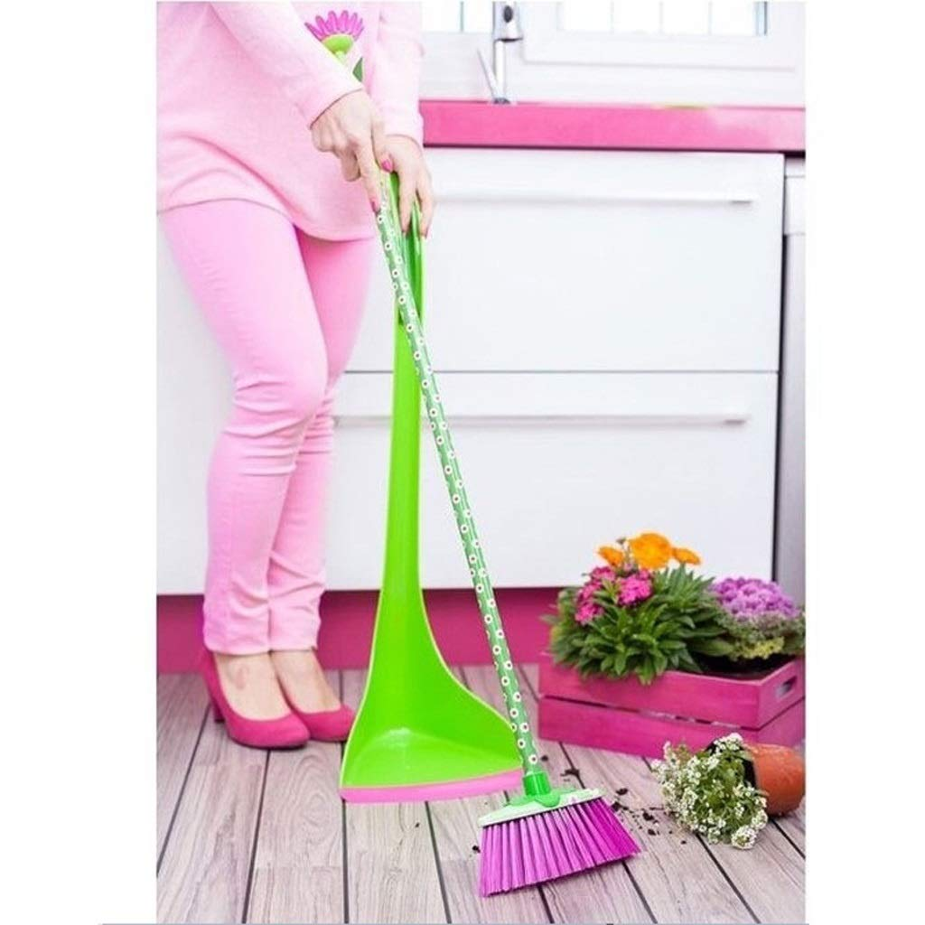 2-piece 41.3-31.2'' Long Handle Broom And Shovel Set - Quickly Clean The Combination Of Durable Plastic Upright Broom And Dusting Tray, Embracing The Sun Flower Broom And Creative Home. by Broom&Dustpan