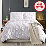 MOYMO Pinch Pleated 3 Piece Duvet Cover with...