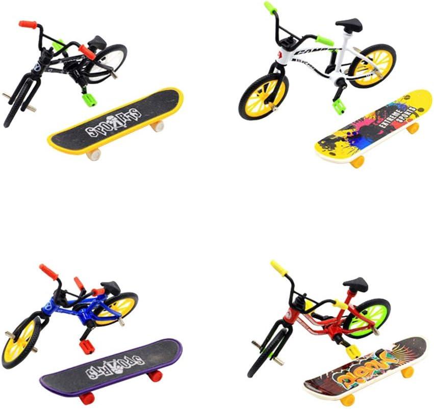 Toyvian 1 Juego de patinetas de Mini patinetas de Juguete Modelo de Tablero de Dedos Skate Park para niños niños y niñas (Color Aleatorio)
