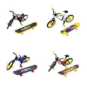 Amazon.com: Toyvian 1 Set Mini Skateboard Toy Bicycle Model ...
