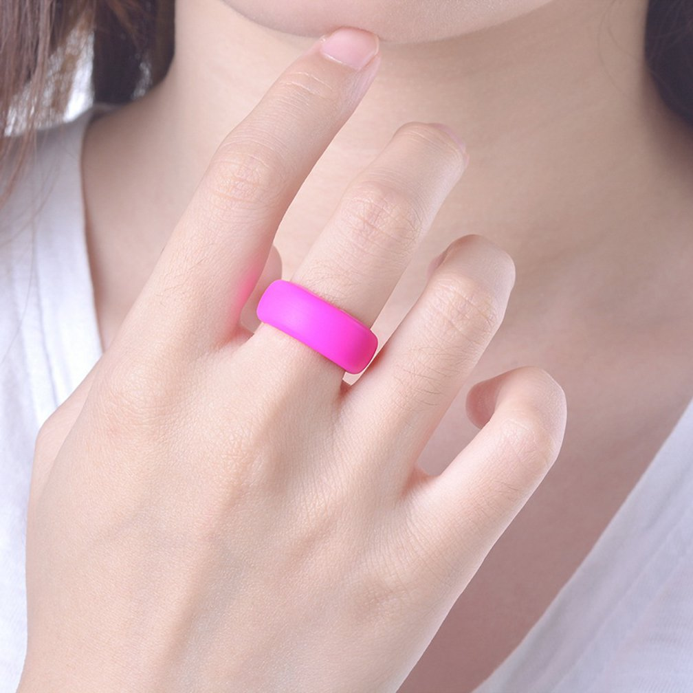 Amazon.com : MJartoria Silicone Wedding Ring For Women, Affordable ...