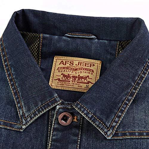 Marineblau Fit Trucker Hommes En Veste Vest Tops De Gilets Mode Slim Classic Gilet Manches Essentiel Denim Jean Sans ZZTAq