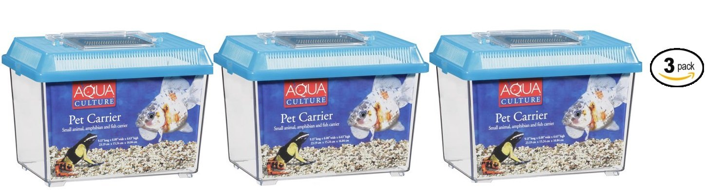 Aqua Culture Pet Carrier for Small Animals/Amphibians & Fish - Pack of 3