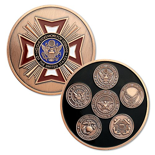 82012561c96 Military Challenge Coin U.S. Army Navy Air force Marine Corps Coast Guard  Veteran -Five Branches