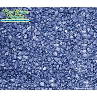 Frost Premium Fresh Water Aquarium Substrate - 40 lbs [Set of 8] Color: Deep Blue Frost by Pure Water Pebbles