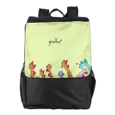 Giraffe Multi-Function Lightweight Stylish Modern Multi Pocket Waterproof Travel Backpack School Bag Apply To Laptop Camping School Wen Women