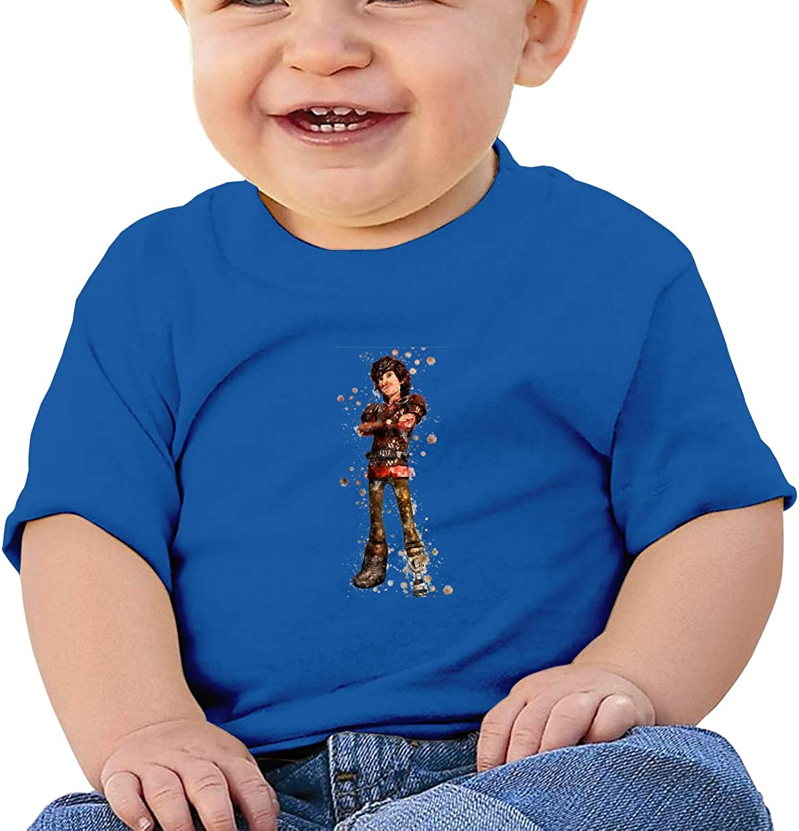 HuoFengDing How to Train Your Dragon 3 Hiccup Tee Personalized Soft T-Shirt for Baby Black