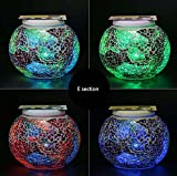 Solar Mosaic Glass Ball Garden Light Ball Mosaic Decorative Lights Stained Glass Decorative Table Lamp Garden, Corridor, Courtyard, Etc. ( Edition : E )