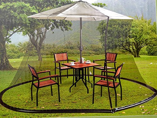 Garden Essentials Black Mosquito Netting for 9 ft Market Umbrella Review