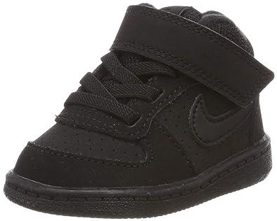 pretty nice 0c714 4dbfa Nike Boys Court Borough Mid (TD), Chaussons Mixte bébé, Noir Black 001, 17  EU  Amazon.fr  Chaussures et Sacs