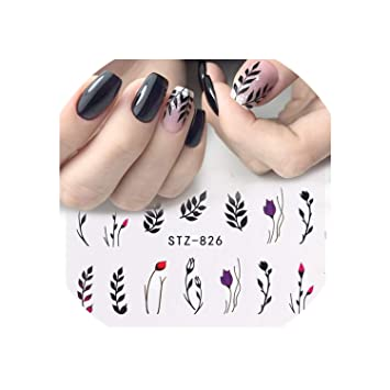 Amazon.com 1Pcs Water Nail Decal And Sticker Flower Leaf