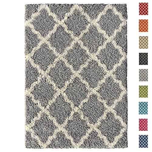 Maxy Home Soft Shag Area Rug, Grey