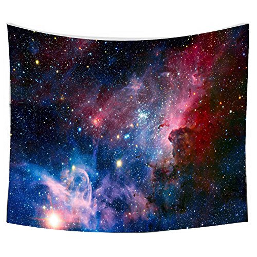SENGE Starry Sky Tapestry Wall Hanging Tapestry Universe Galaxy Star Bohemian Tapestry Colored Printed Decorative Tapestry (L59.1