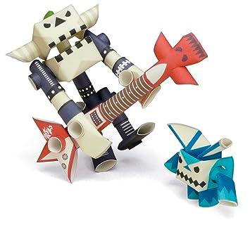 Amazon Com Piperoid Guyzer Bean Paper Craft Robot Kit From Japan