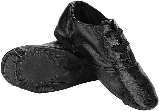 Filfeel Zapatillas de Jazz de Cuero de Corte bajo para Baile de Adultos de Cuero de Baile(32): Amazon.es: Deportes y aire libre