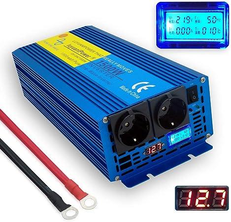 Spannungswandler 1500w 3000w Reiner Sinus Wechselrichter Inverter 12V auf 230V