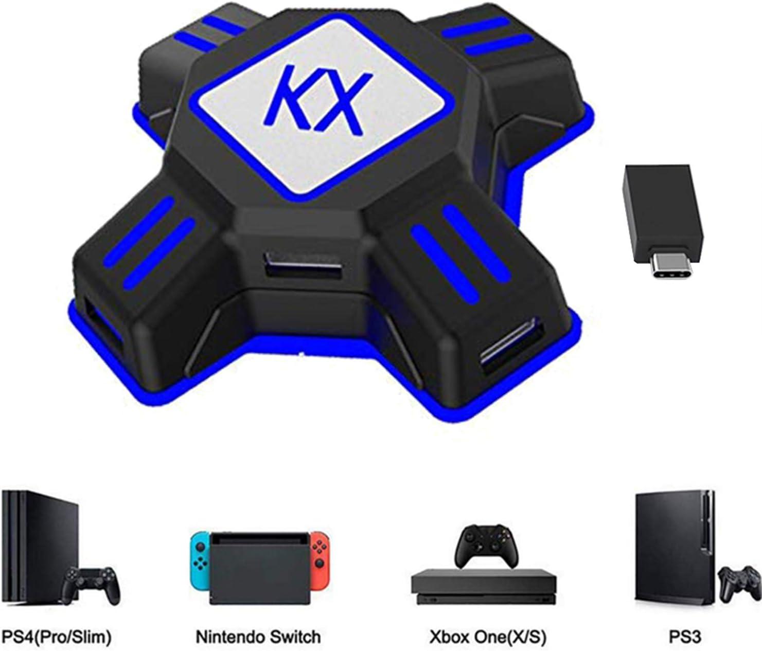 KX Mouse Keyboard Converter, Game Controller Adapter para USB 2.0 Mouse Adaptador de teclado ratón Compatible con PS4 / Xbox One / Nintendo Switch / PS3 / Xbox360 / Xbox360 Slim: Amazon.es: Videojuegos